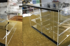 Acrylic food display cabinet with removable shelves