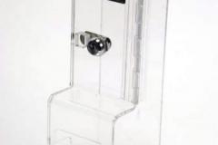 Acrylic lockable IV holder
