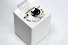 Acrylic lockable payment box